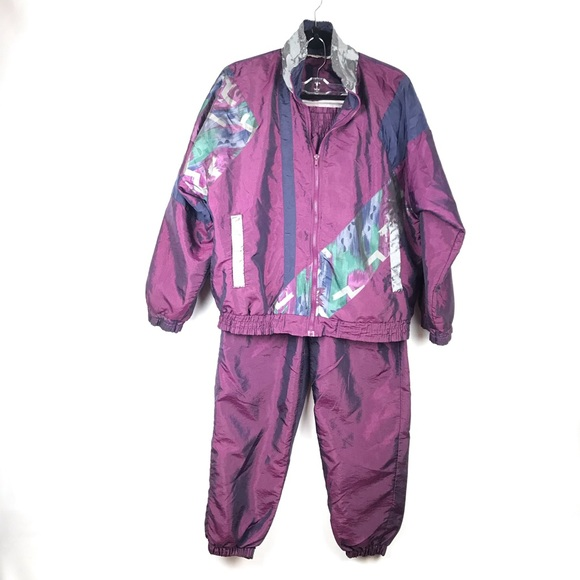 no sale tax detailed look the cheapest Vintage Nylon Jogging Gym Track Suit 80s 90s
